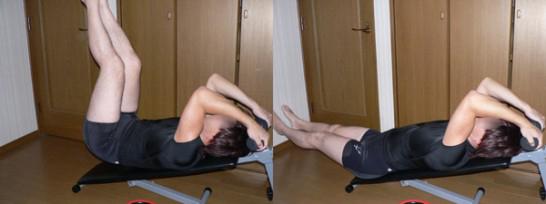 レッグレイズ-腹筋下部を鍛える-