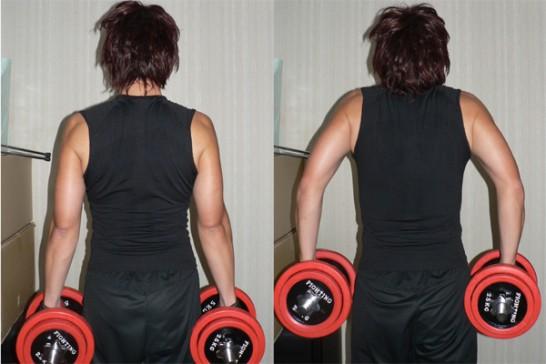 ダンベルシュラッグ-肩を鍛える-