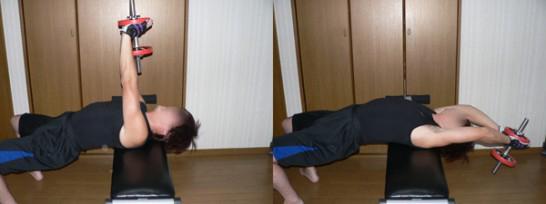 ダンベルプルオーバー-小胸筋を鍛える-