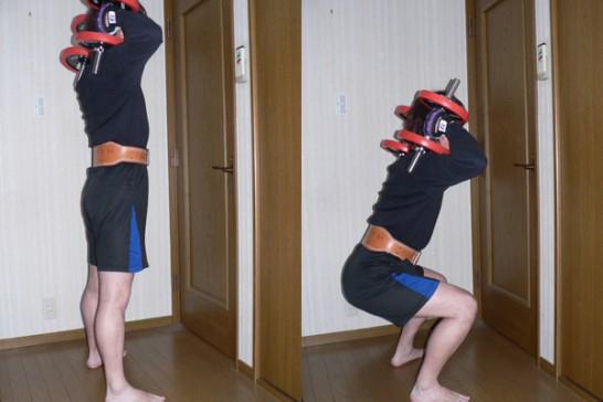 ダンベルスクワット-脚を鍛える-