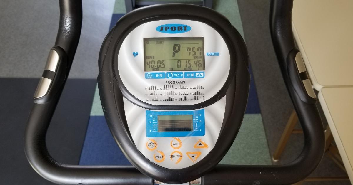 エクササイズバイク心拍数under150(2018/06/25)